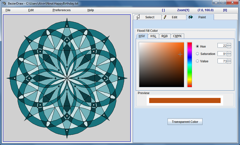 Click to view BezierDraw 1.52 screenshot